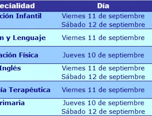 Horarios reuniones informativas oposiciones educación 2016