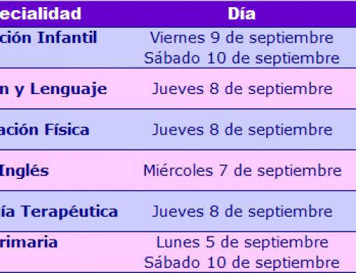 Horarios reuniones informativas oposiciones educación 2016-17